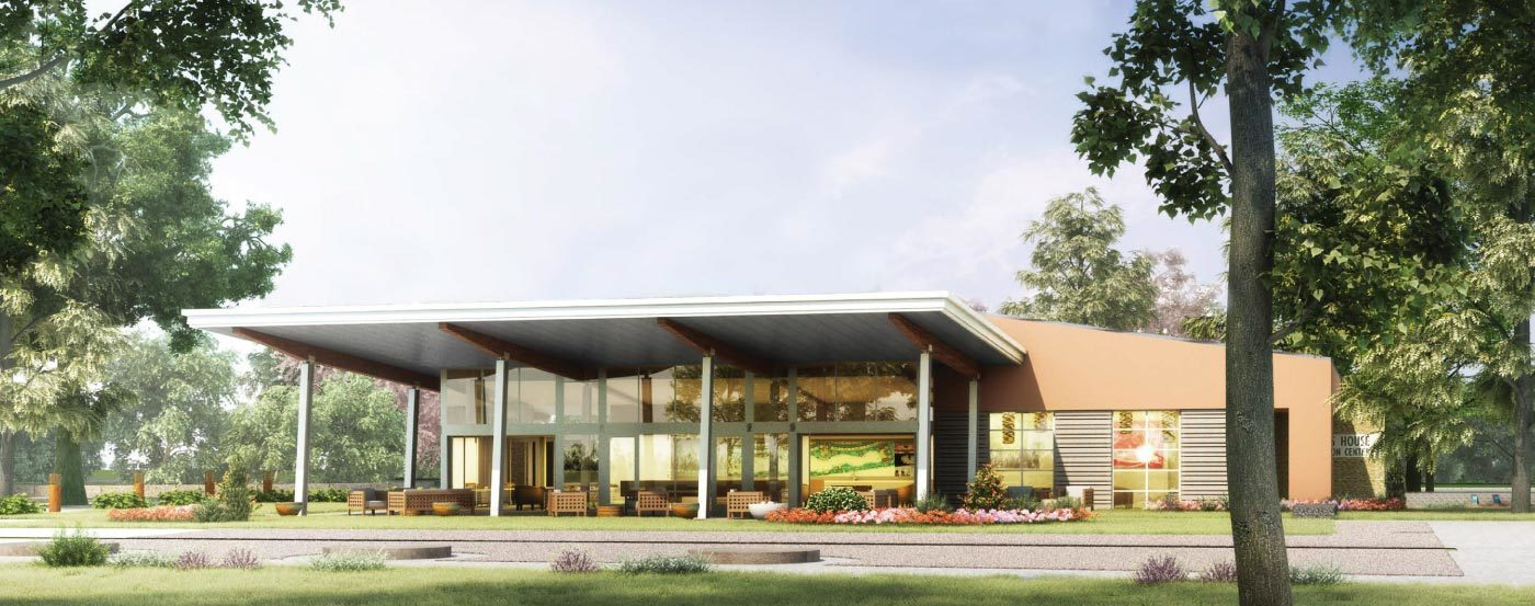 glass house rendering