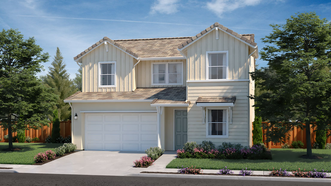 Exterior rendering of Residence 1A at Creston by Lennar at One Lake