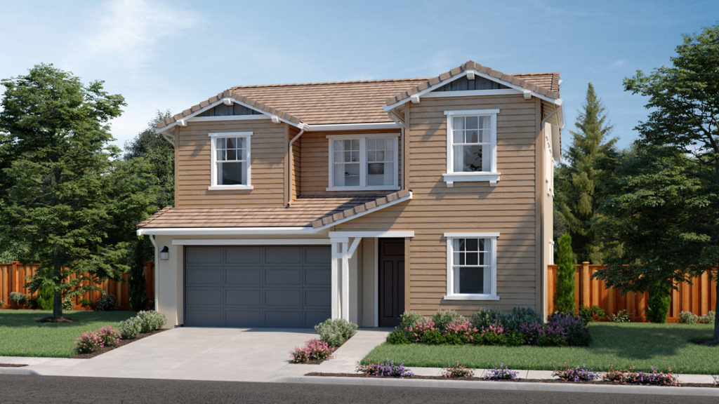 Exterior rendering of Residence 1B at Creston by Lennar at One Lake