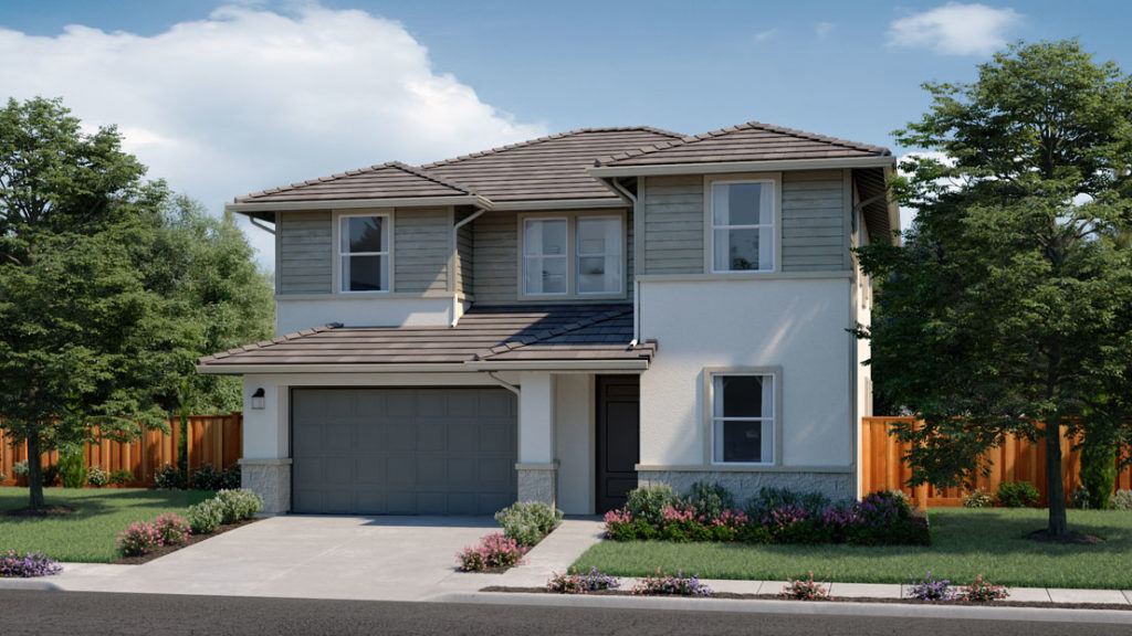 Exterior rendering of Residence 1E at Creston by Lennar at One Lake