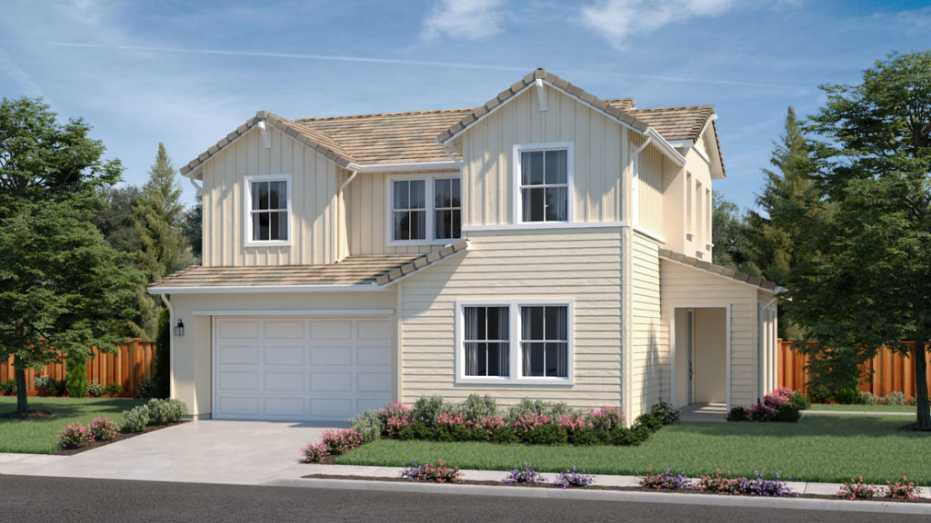 Exterior rendering of Residence 2A at Creston by Lennar at One Lake