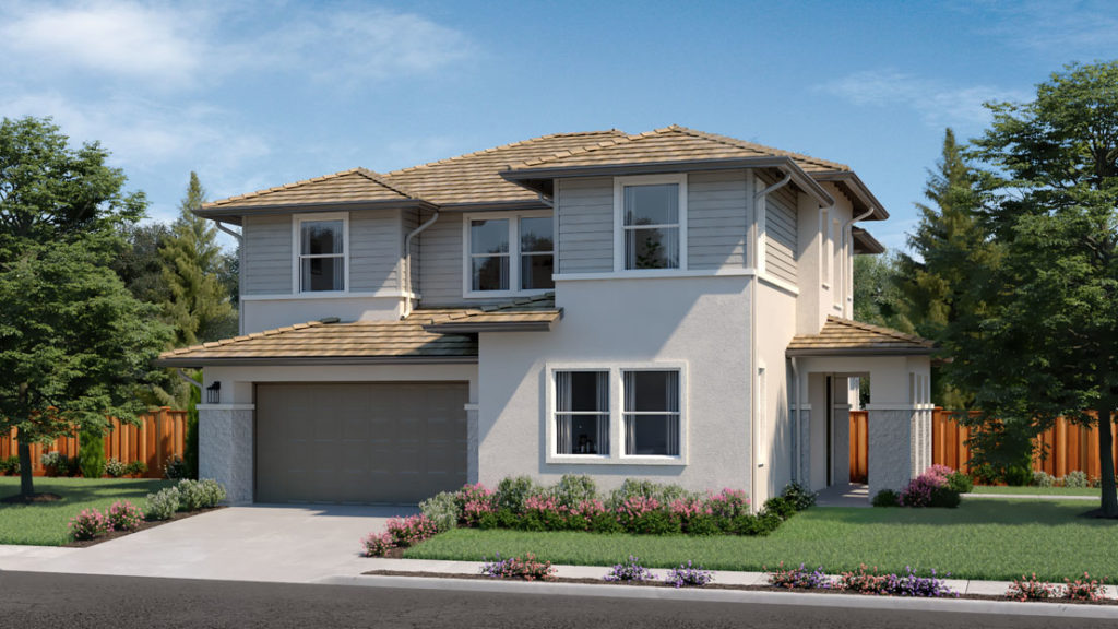 Exterior rendering of Residence 2E at Creston by Lennar at One Lake