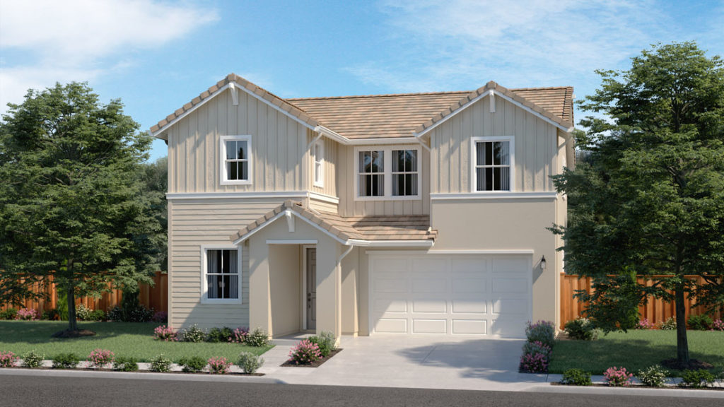 Exterior rendering of Residence 3A at Creston by Lennar at One Lake