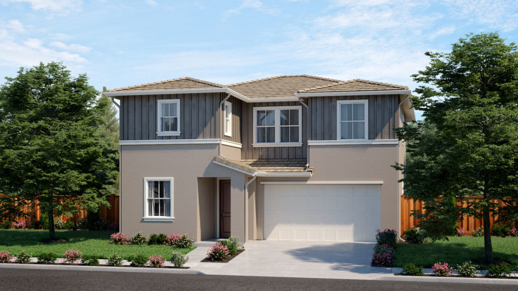Exterior rendering of Residence 3C at Creston by Lennar at One Lake
