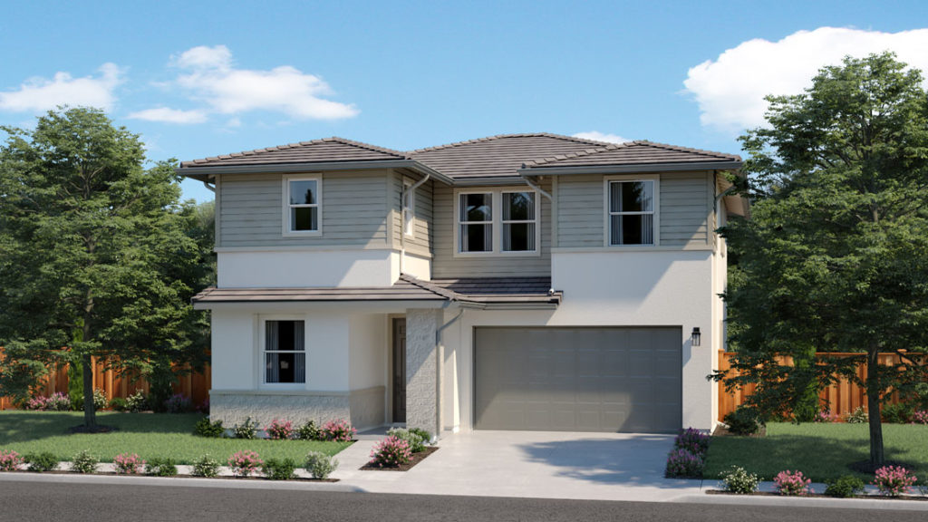 Exterior rendering of Residence 3E at Creston by Lennar at One Lake