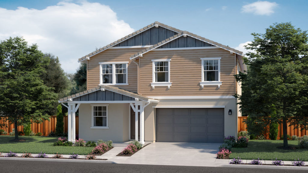 Exterior rendering of Residence 4B at Creston by Lennar at One Lake