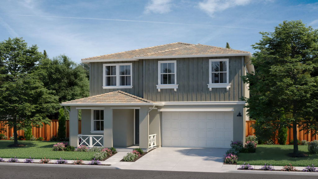 Exterior rendering of Residence 4C at Creston by Lennar at One Lake