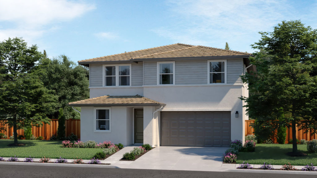 Exterior rendering of Residence 4E at Creston by Lennar at One Lake