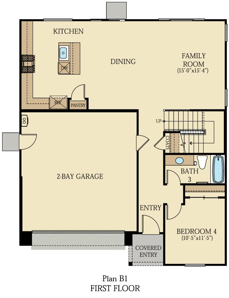 Creston at One Lake Floor Plan   Residence 1   Floor 1
