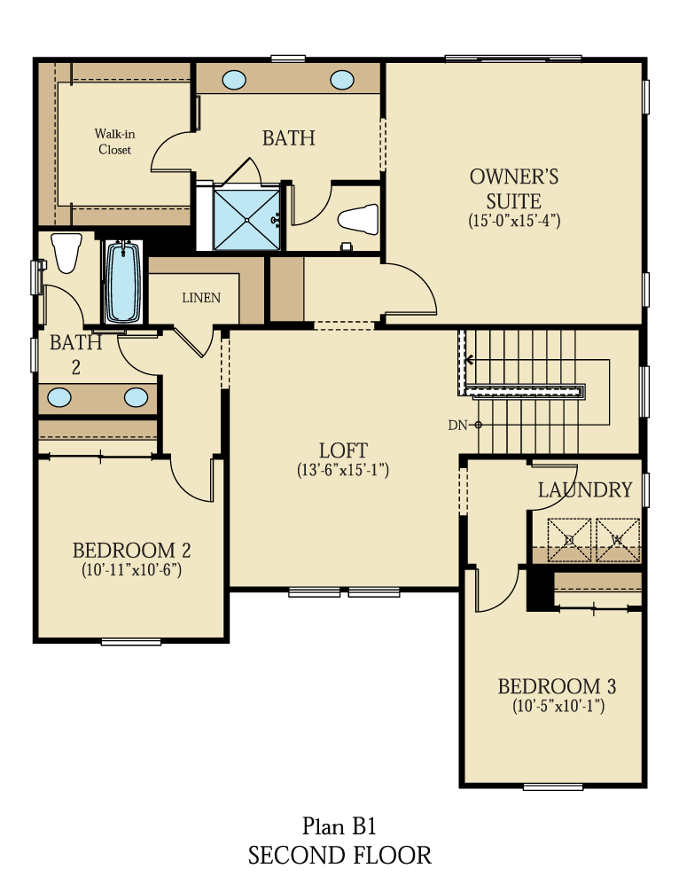Creston at One Lake Floor Plan | Residence 1 | Floor 2
