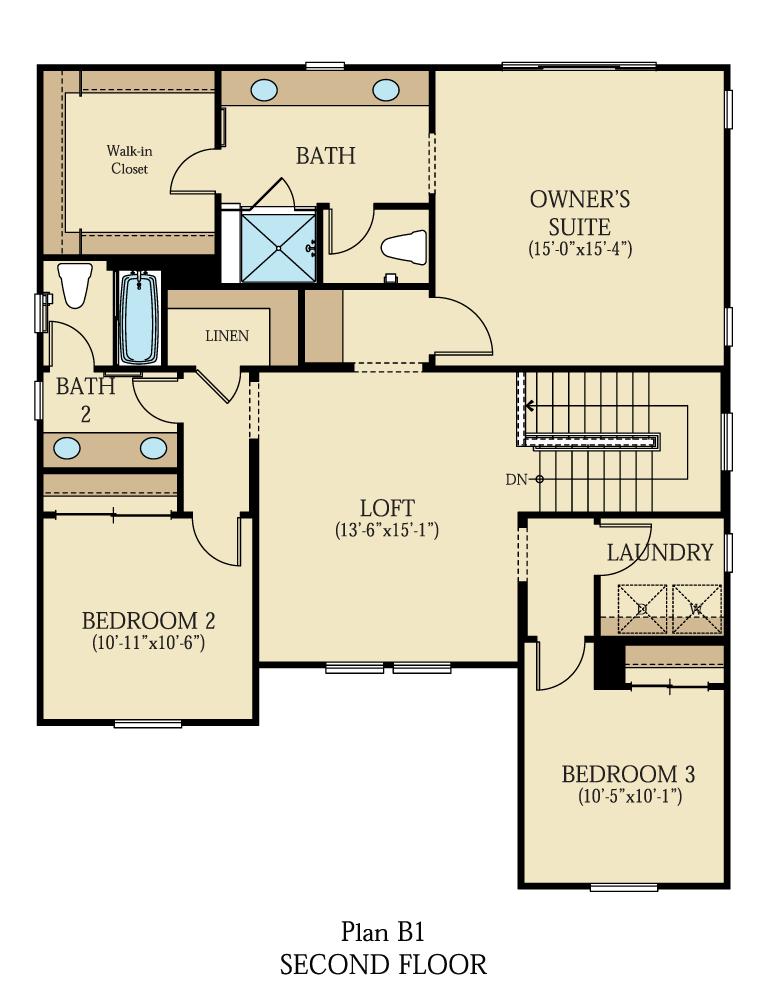 Creston at One Lake Floor Plan | Residence 1 | Floor 2