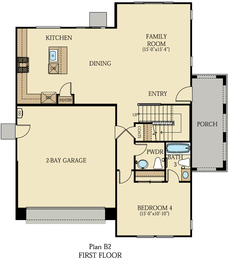 Creston at One Lake Floor Plan | Residence 2 | Floor 1