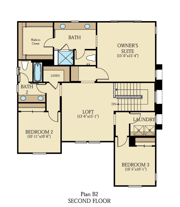 Creston at One Lake Floor Plan | Residence 2 | Floor 2