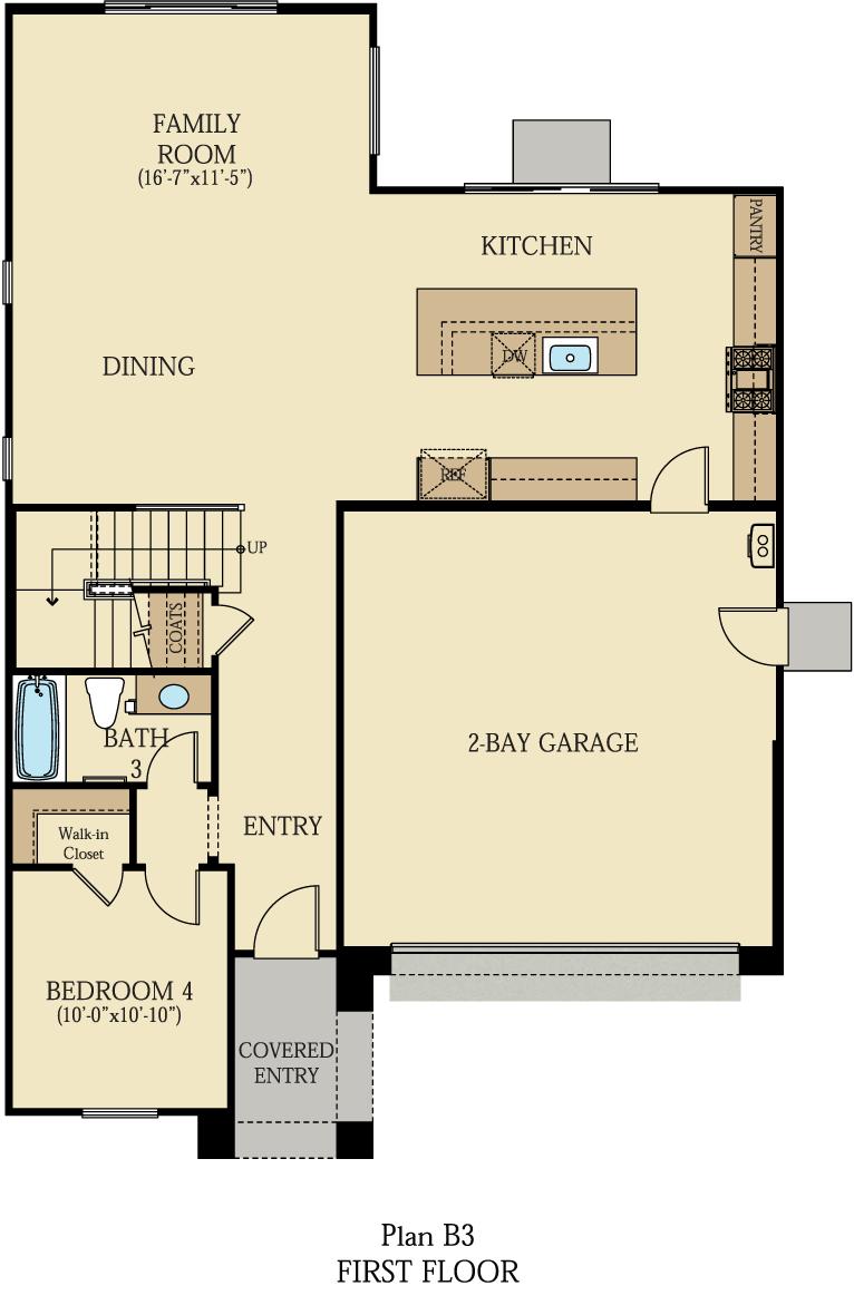 Creston at One Lake Floor Plan   Residence 3   Floor 1