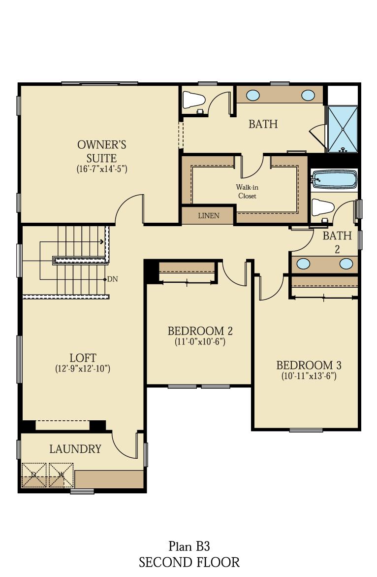 Creston at One Lake Floor Plan | Residence 3 | Floor 2
