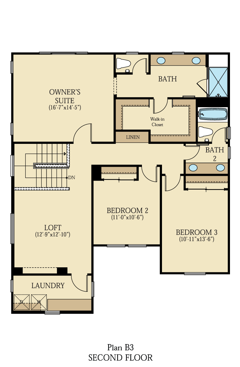 Creston at One Lake Floor Plan   Residence 3   Floor 2