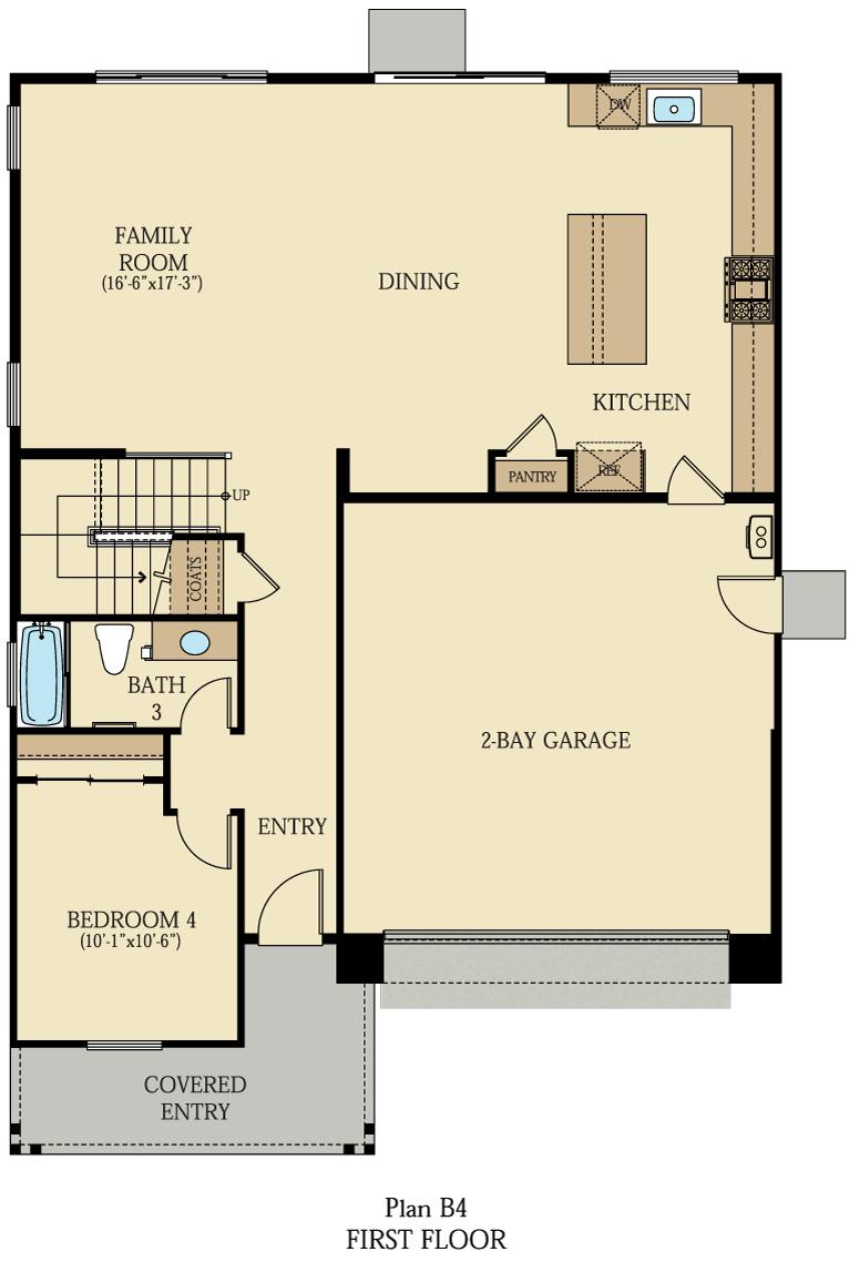 Creston at One Lake Floor Plan   Residence 4   Floor 1