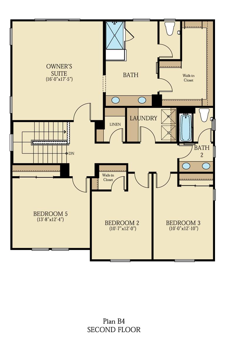 Creston at One Lake Floor Plan   Residence 4   Floor 2