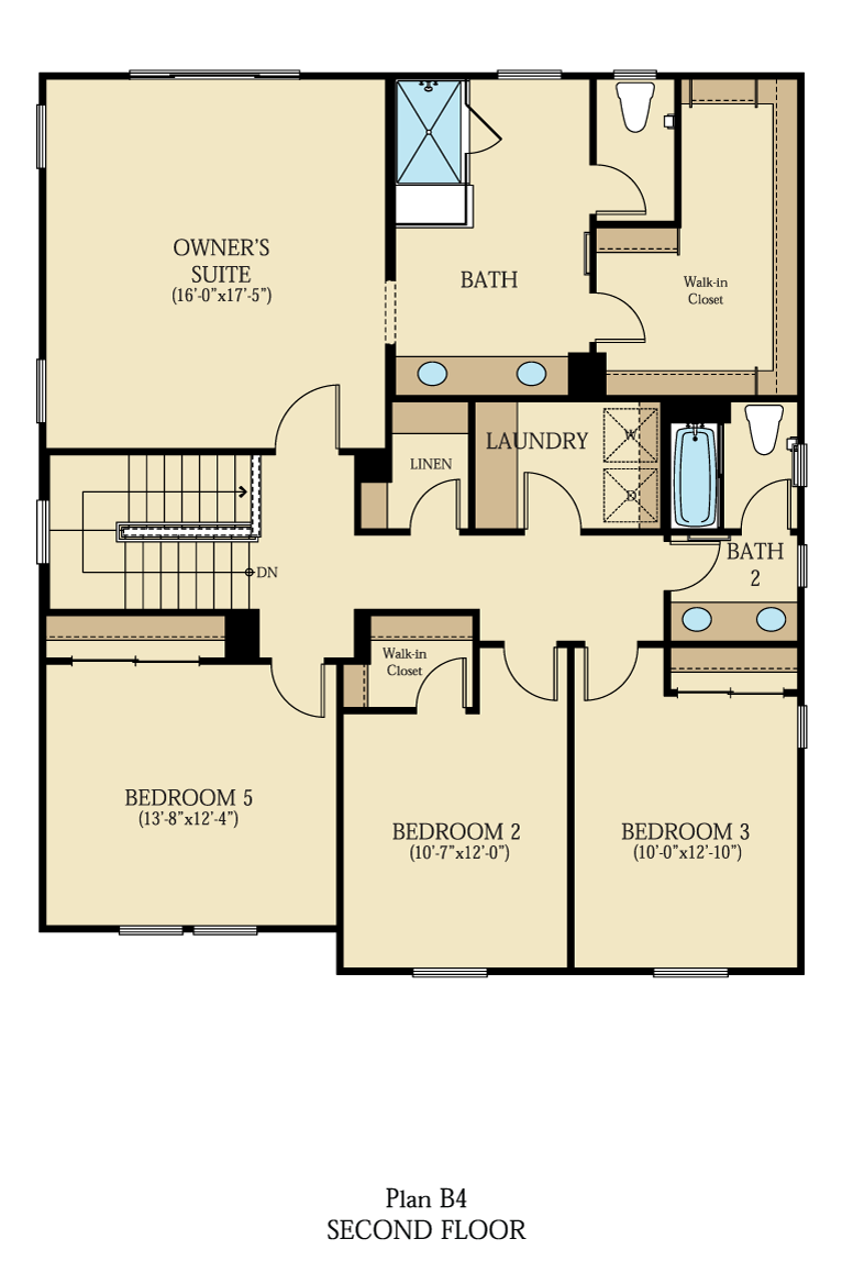 Creston at One Lake Floor Plan | Residence 4 | Floor 2