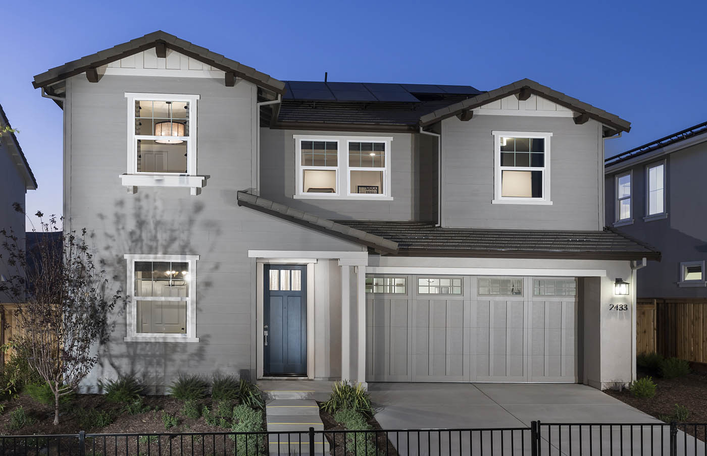 Exterior at dusk of Residence 1B at Creston by Lennar at One Lake