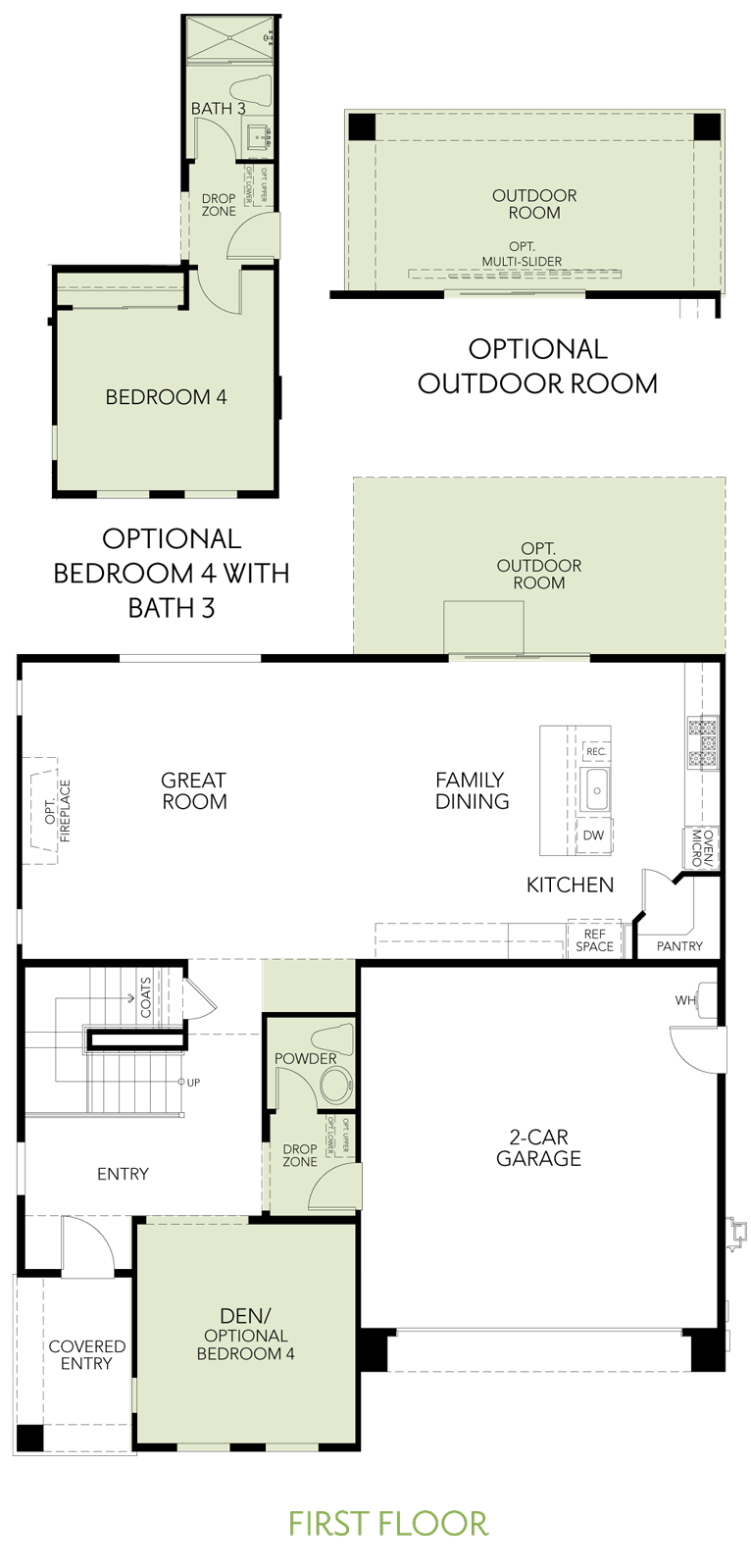 Shimmer at One Lake Floor Plan   Residence 1   Floor 1