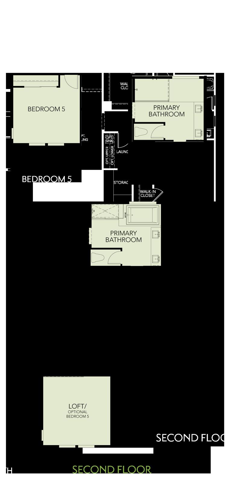 Shimmer at One Lake Floor Plan   Residence 1   Floor 2