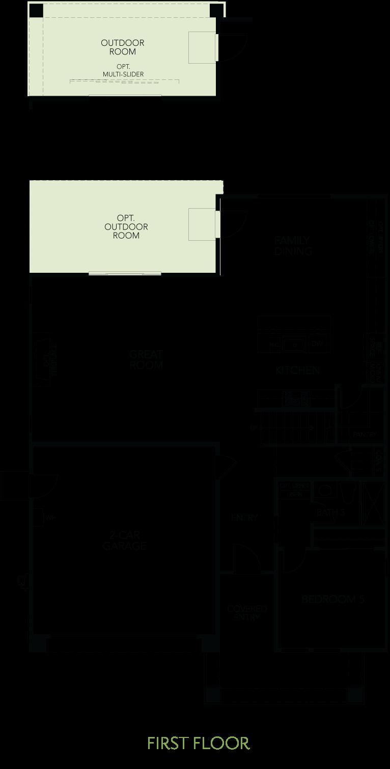 Shimmer at One Lake Floor Plan   Residence 2   Floor 1