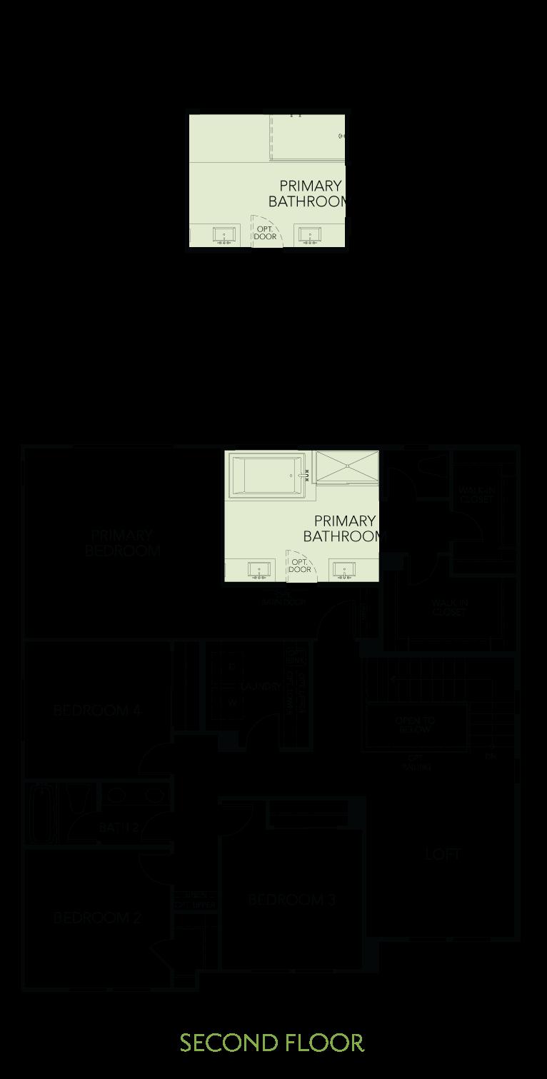 Shimmer at One Lake Floor Plan   Residence 2   Floor 2