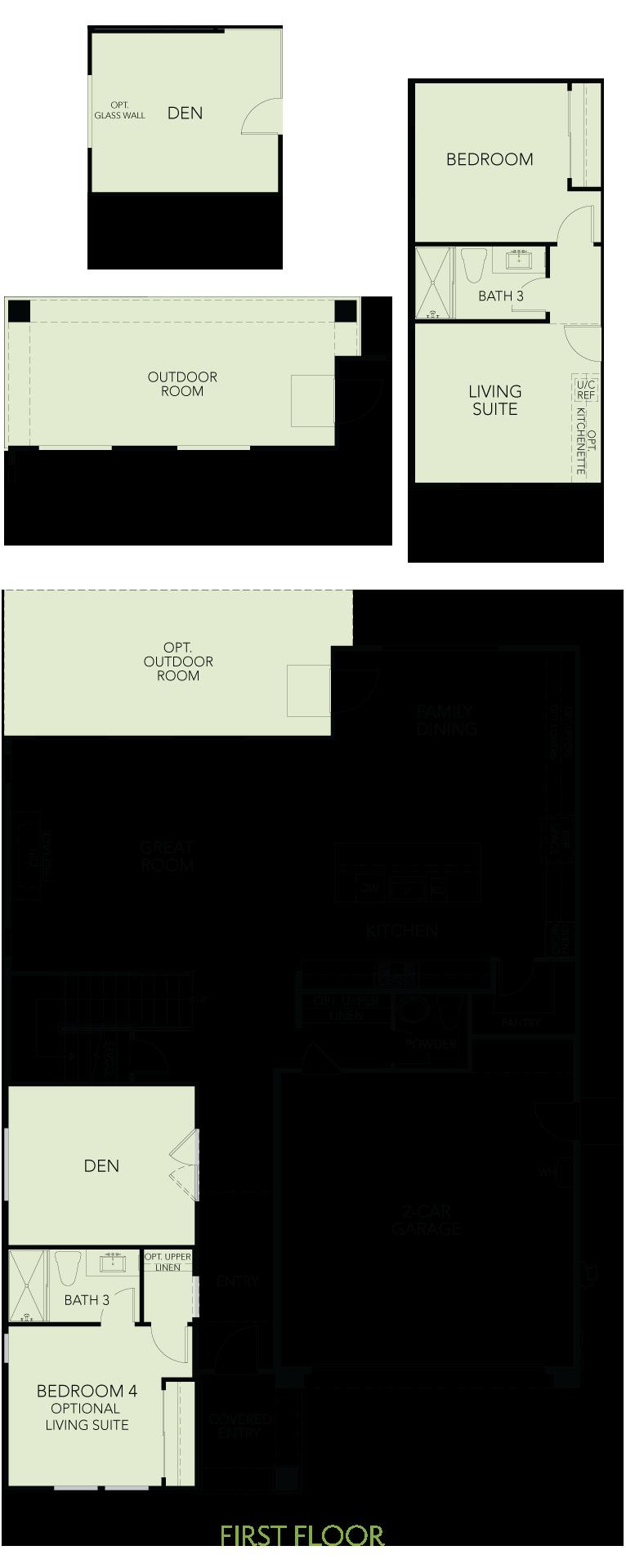 Shimmer at One Lake Floor Plan | Residence 3 | Floor 1