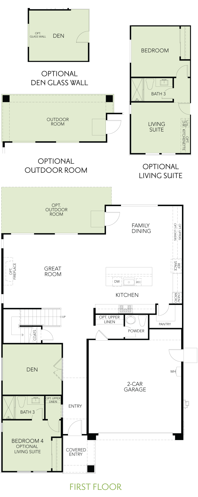 Shimmer at One Lake Floor Plan   Residence 3   Floor 1