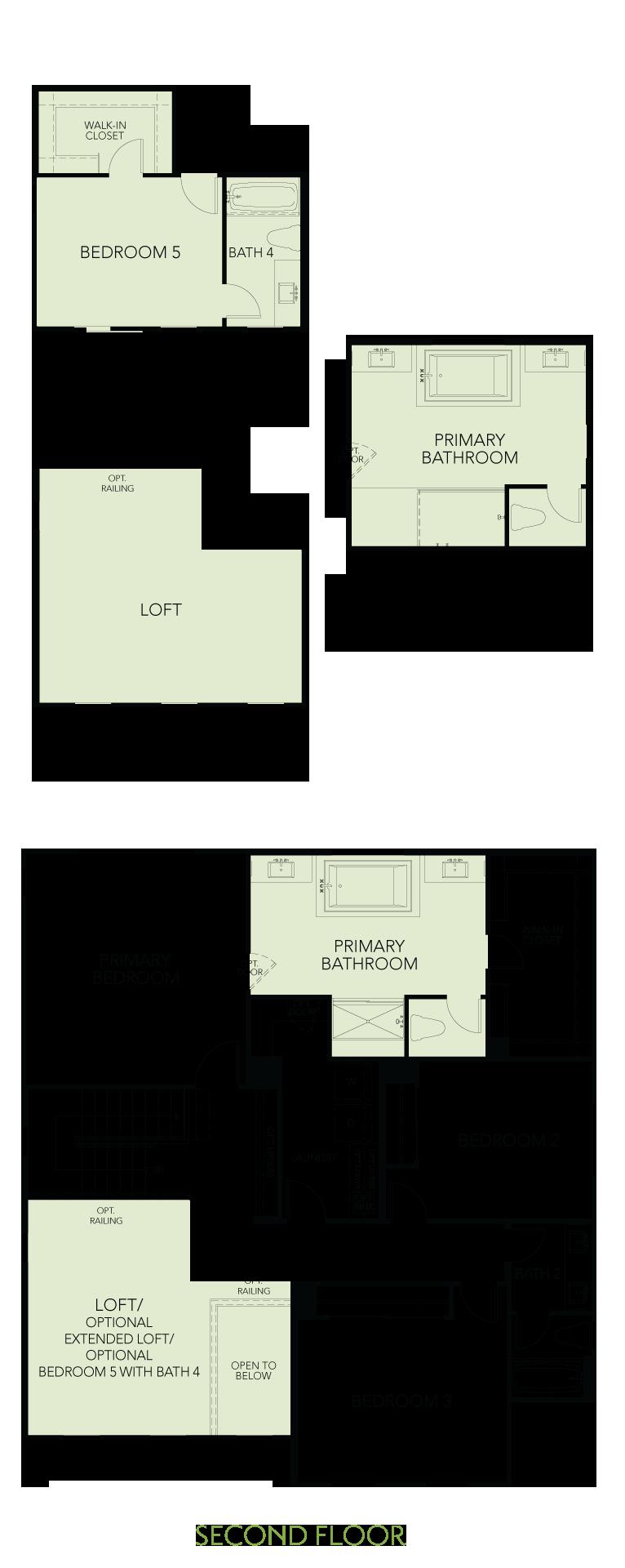 Shimmer at One Lake Floor Plan   Residence 3   Floor 2