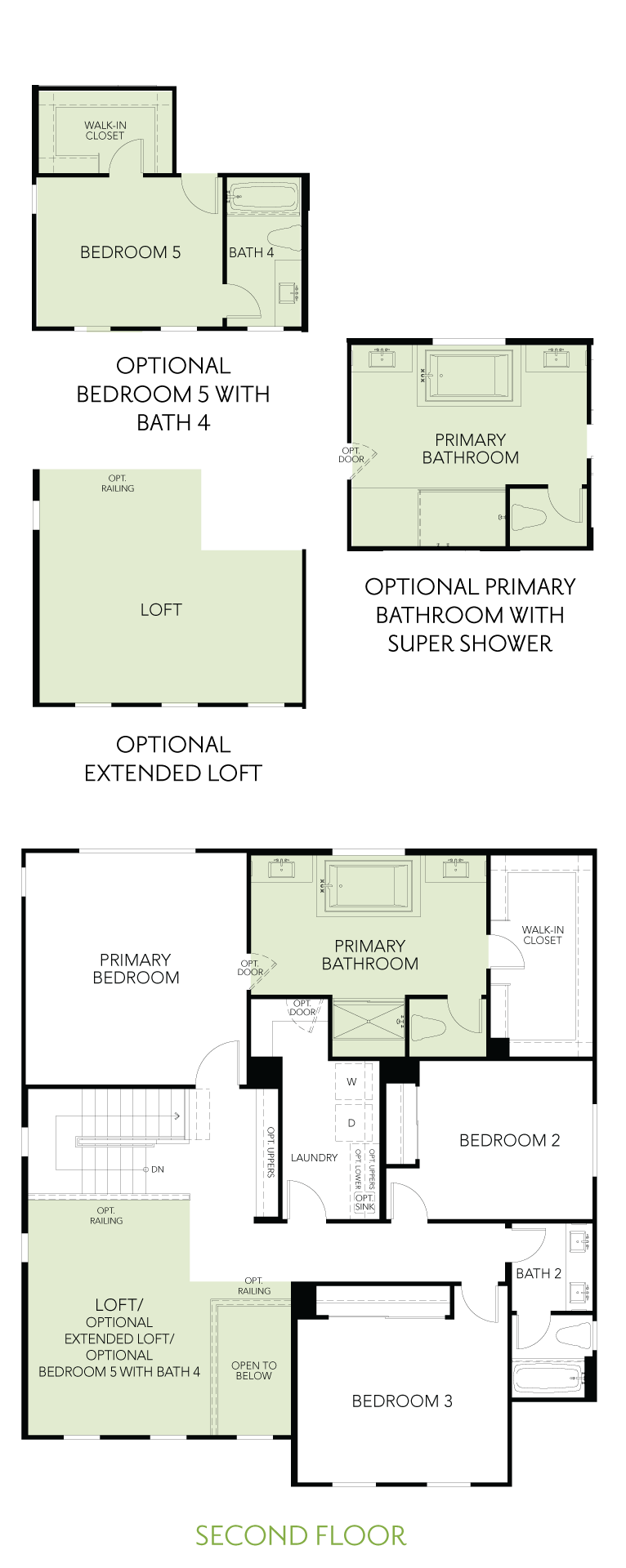 Shimmer at One Lake Floor Plan | Residence 3 | Floor 2