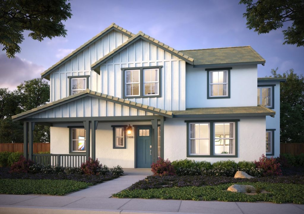 Exterior rendering of Splash Residence Two elevation G by Tri Pointe Homes at One Lake