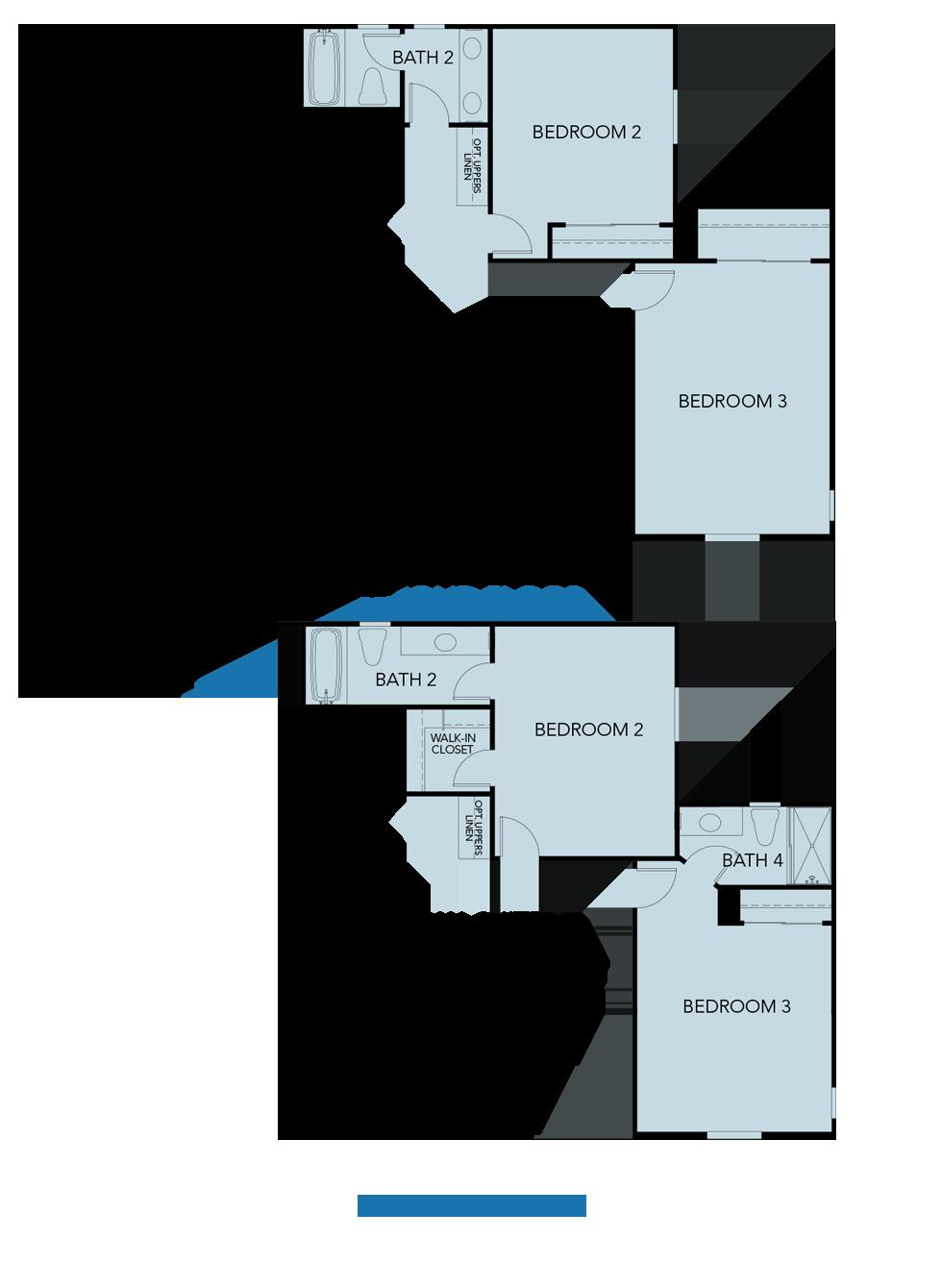 Splash at One Lake Floor Plan   Residence 3   Floor 2