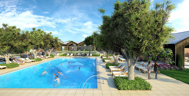 Resident lake club pool