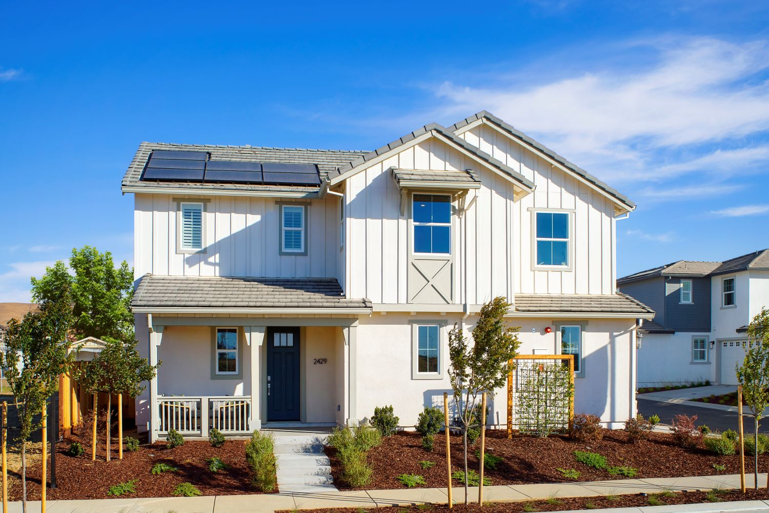 Exterior photo of Splash Residence One elevation by Tri Pointe Homes at One Lake